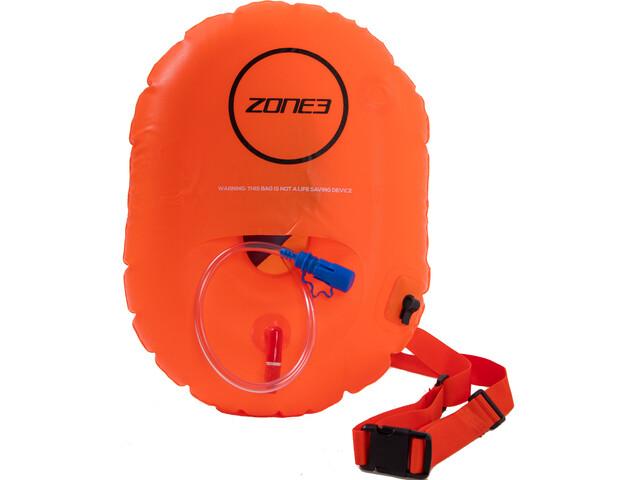 Zone3 Swim Safety Buoy Donut Sac de compression étanche, hi-vis orange